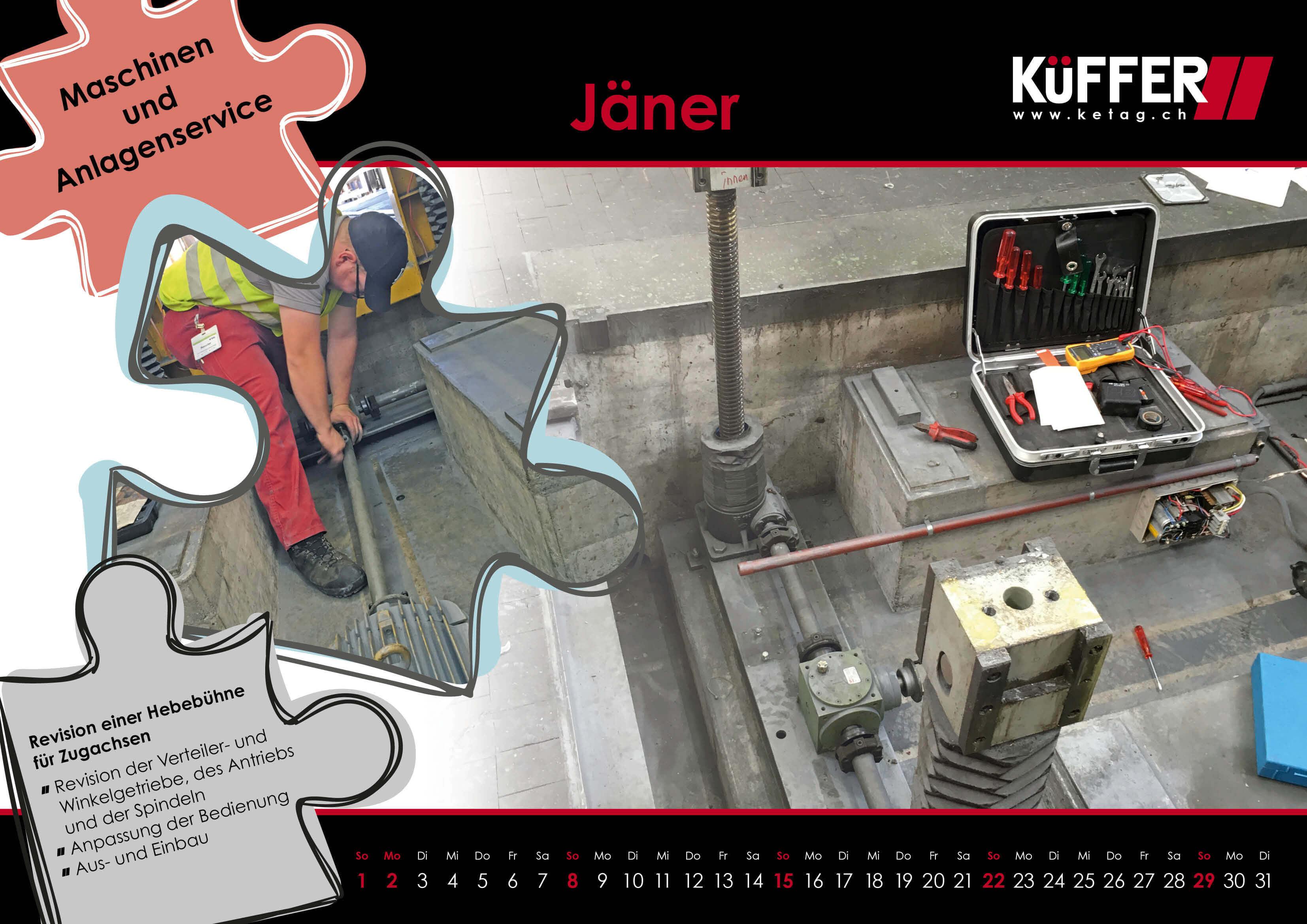 Kalender Januar 2017 - Küfffer Elektro-Technik